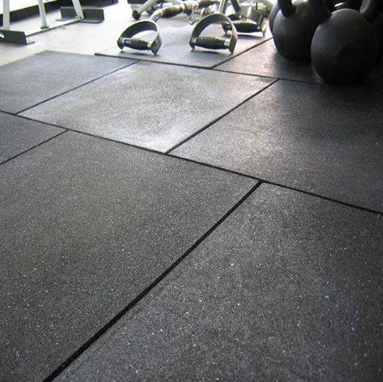 GYMROOM FLOORING SQUARE TILES