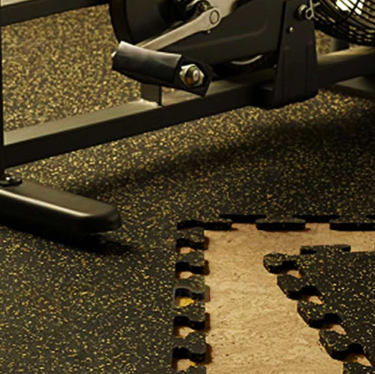 GYMROOM FLOORING V-INTERLOCK MATS